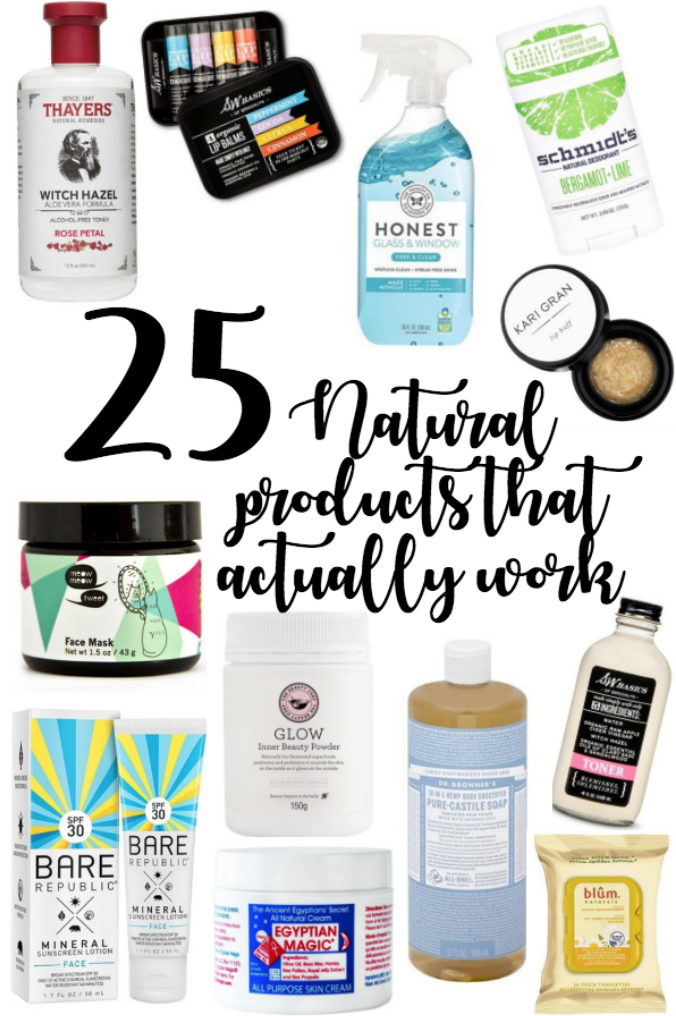 25 Natural Products that Actually Work